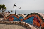 Lima; Miraflores; Malecon, waterfront, El Parque del Amor, romantic quotes scripted in mosaic tiles, Love Park, Park of Love, Peru, cliffs of Chorrillos, Pacific Ocean, South America, PERU0A6951.jpg