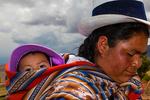 Maras; farming, corn husk weaving, baskets, Andes Mountains; Peru, South America, Peru40256.CR2