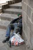 Cusco, homelessness, homeless, still toilet paper is important to keep relationship with law enforcement and other people; capital of the Inca empire; Peru, South America, PERU33669.jpg