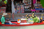 Pattaya Floating Market, Established since 2008, Pattaya Floating Market is riverside attraction in Pattaya displaying and showcasing the beautiful ancient Thai riverside living community and authentic ways of life, including has on display culture and local products from 4 major regions of Thailand.  Pattaya, Thailand, Asia; Pacific Rim; THAI025948.CR2