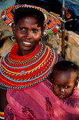 """Samburu are a Nilotic people of north-central Kenya. They are a sub tribe of the Maasai. The Samburu are semi-nomadic pastoralists who herd mainly cattle but also keep sheep, goats and camels. The name they use for themselves is Lokop or Loikop, a term which may have a variety of meanings which Samburu themselves do not agree on. Many assert that it refers to them as """"owners of the land"""" though others present a very different interpretation of the term. The Samburu speak the Samburu dialect; Samburu and Buffalo Springs national reserves, has arid acacia savannah, scrub and gallery forest alongside the Uaso Nyiro River. Has a number of northeast African dry-country species shared with Ethiopia and Somalia, such as vulturine guineafowl, Somali bee-eater and golden-breasted starling and several mammals that do not need to drink water like Grant's Gazelle, Grevy's Zebra and Beiza Oryx; Africa; Kenya, SAM28031_P.tiff"""