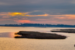 Sunrise over marsh, Chincoteague National Wildlife Refuge, North America; United States of America {America, U.S., United States, US, USA}; Virginia, Chincoteague, Delmarva Peninsula, Eastern Shore, Chincoteague Island, Chincoteague Is.