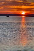 Causeway, duck blind, goose bloind, hide; Chincoteague National Wildlife Refuge, Virginia, Chincoteague, Delmarva Peninsula, Eastern Shore, Chincoteague Island, Chincoteague Is., USA, sunset, sundown, dusk, evening, dramatic color; CHIN035925_a.tif