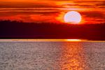 Causeway, Chincoteague National Wildlife Refuge, Virginia, Chincoteague, Delmarva Peninsula, Eastern Shore, Chincoteague Island, Chincoteague Is., USA, sunset, sundown, dusk, evening, dramatic color; CHIN035942_a.tif