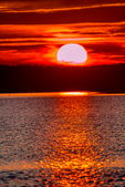 Causeway, Chincoteague National Wildlife Refuge, Virginia, Chincoteague, Delmarva Peninsula, Eastern Shore, Chincoteague Island, Chincoteague Is., USA, sunset, sundown, dusk, evening, dramatic color; CHIN035951_a.tif