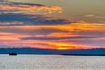 Causeway, duck blind, goose bloind, hide; Chincoteague National Wildlife Refuge, Virginia, Chincoteague, Delmarva Peninsula, Eastern Shore, Chincoteague Island, Chincoteague Is., USA, sunset, sundown, dusk, evening, dramatic color; CHIN035996_a.tif
