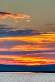 Causeway, Chincoteague National Wildlife Refuge, Virginia, Chincoteague, Delmarva Peninsula, Eastern Shore, Chincoteague Island, Chincoteague Is., USA, sunset, sundown, dusk, evening, dramatic color; CHIN036011_a.tif