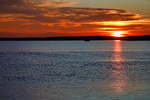 Spectacular sunset on oyster beds Causeway, Chincoteague, Virginia,  Delmarva Peninsula, Eastern Shore, Chincoteague Island, USA, Eastern Oyster, Crassostrea virginica, CHIN012969_P.tiff