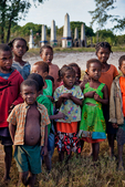 Malagasy children with Antanosy graveyard, in southern part of country, Madagascar: Africa, Madagascar81237PL.tiff