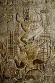 RAMA BEING CARRIED INTO BATTLE BY HANUMAN, ANGKOR WAT, CAMBODIA