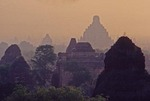 TEMPLES & PAGODAS OF PAGAN AT SUNRISE, PAGAN, BURMA