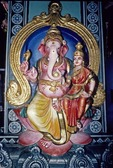 GANESH & SUBRIMANIUM, THE TWO SONS OF SHIVA, HINDU TEMPLE, SINGAPORE