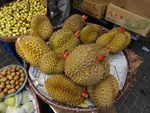 DURIANS, THE KING OF FRUITS, FOR SALE IN SHANGHAI MARKET