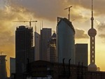 NEW CONSTRUCTION IN PUDONG, SHANGHAI'S NEW ECONOMIC CENTER