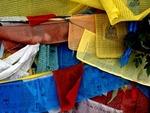 TIBETAN PRAYER FLAGS AT THE POTALA; LHASA; TIBET