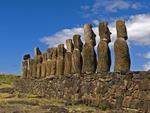 AHU TONGARIKI WITH ITS 15 MOAI, EASTER ISLAND