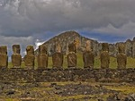 AHU TONGARIKI WITH ITS 15 MOAI, EASTER ISLAND