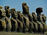 MOAI OF AHU TONGARIKI,  EASTER ISLAND