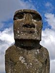 A MOAI OF AHU AKIVA, EASTER ISLAND