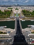 SHADOW OF THE EIFFEL TOWER FALLING ON PONT D'LENA, PARIS, FRANCE