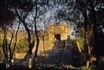 PYRAMID OF HUITZILOPOCHTLI, AZTEC GOD OF WAR, SANTA CECILIA ACTITLAN. MEXICO