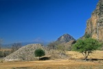PYRAMID RUIN, CHALCATZINGO, MORELOS, MEXICO