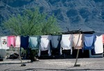 CLOTHES DRYING ON LINE, BOQUILLAS, COAHUILA, MEXICO