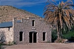OLD POST OFFICE, GHOST TOWN OF HOT SPRINGS, BIG BEND, TEXAS, ON THE BANKS OF THE RION GRANDE RIVER, BIG BEND OF TEXAS, PLA-GMT-5-14