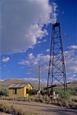 ABANDONED PUMP JACK, GHOST TOWN OF LONGFELLOW, PECOS COUNTY, TEXAS