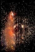 FIREWORKS DISPLAY ON 225TH BIRTHDAY CELEBRATION OF ALLENDE, GUANAJUATO, MEXICO