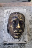BRONZE CASTING OF DEATH MASK OF PANCHO VILLA, PARRAL, CHIHUAHUA, MEXICO