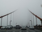 DRIVING INTO THE FOG ON THE GOLDEN GATE BRIDGE