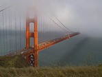 THE GOLDEN GATE BRIDGE IS FOG & SUN