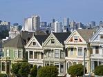 PAINTED LADIES, ALAMO SQUARE, SAN FRANCISCO, CALIFORNIA.