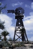 OLD WOODEN ECLIPSE WINDMILL, JUDGE ROY BEAN PARK, TRANS-PECOS TEXAS