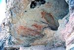 FISH PICTOGRAPH, COCHIMI, ABOUT 1,000BC, CUEVA PALMARITO, BAJA CALIFORNIA SUR, MEXICO