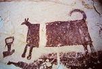 PICTOGRAPH OF ANIMAL WITH VERTIICAL STRIPE, SAN RAFAEL SWELL, UTAH