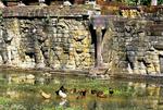 FAÇADE OF THE TERRACE OF THE ELEPHANTS, ANGKOR THOM, CAMBODIA