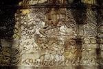 KING JAYAVARMAN VII LEADING KHMER ARMY, BAYON, ANGKOR THOM, CAMBODIA