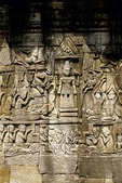 SHIVA WITH APSARAS & PROSTRATE KING, THE BAYON, ANGKOR THOM, CAMBODIA
