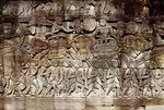 KHMER COMMANDER SITS ATOP A WAR ELEPHANT, BAYON, ANGKOR THOM, CAMBODIA