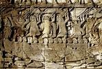 CHAM WARSHIP ATTACKING THE KHMERS, BAYON, ANGKOR THOM, CAMBODIA