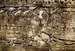 CHAM WARSHIPS ATTACKING THE KHMERS, BAYON, ANGKOR THOM, CAMBODIA