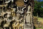 A DEVATA, TERRACE OF THE LEPER KING, ANGKOR THOM, CAMBODIA