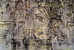 CIRCUS PERFORMERS, THE BAYON, ANGKOR THOM, CAMBODIA