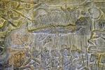 THE GREAT SAGE, BISMA, LIES DYING, BATTLE OF KURUKSHETRA, ANGKOR WAT, CAMBODIA