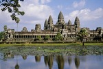 THE FIVE DISTINCTIVE TOWERS OF ANGKOR WAT, CAMBODIA