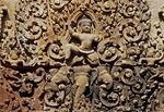 INDRA RIDES HIS THREE-HEADED ELEPHANT, MANDAPA, BANTEAY SREI, CAMBODIA