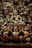 KUBERA, NORTH PEDIMENT OF CENTRAL TOWER, BANTEAY SREI, CAMBODIA