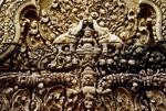 LAKSHMI, EAST INNER PEDIMENT, EAST GOPURA II, BANTEAY SREI, CAMBODIA